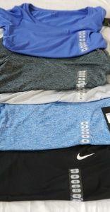 Lot of 5 Womens Nike Dri Fit Short Sleeve Shirts